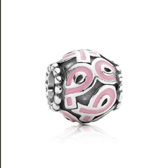 cee31bba5 Pandora Jewelry   Discontinued Pink Breast Cancer Charm   Poshmark
